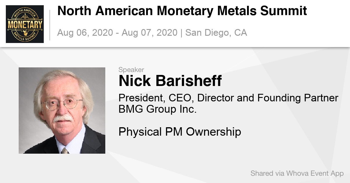 Register Now for the North American Monetary Metals Summit (NAMMS 2020)